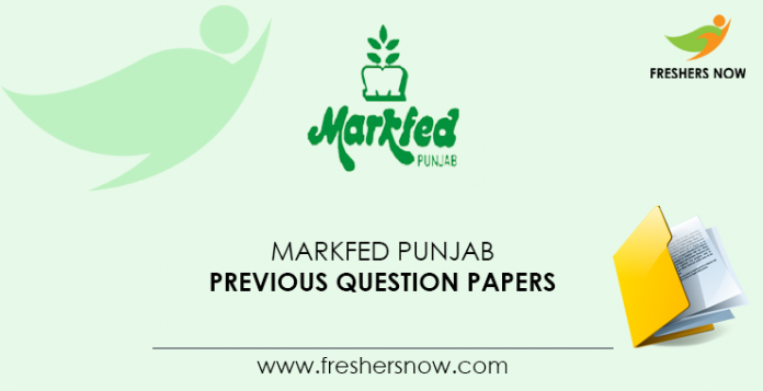 Markfed Punjab Previous Question Papers