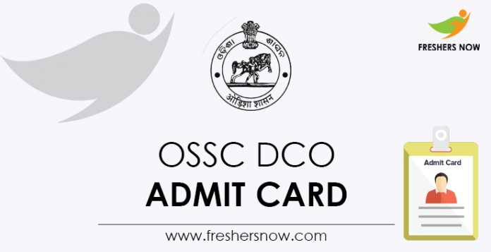 OSSC-DCO-Admit-Card