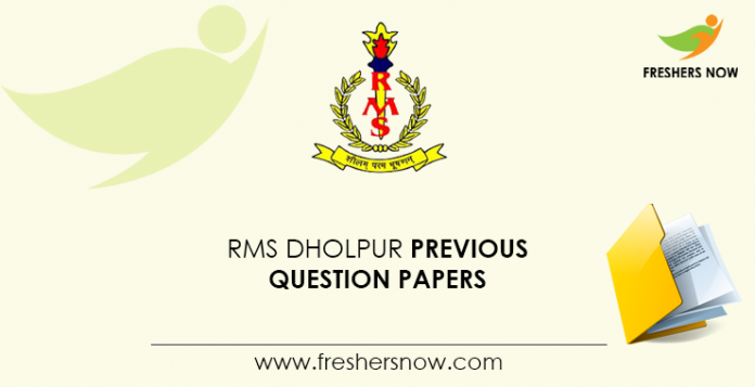 RMS Dholpur Previous Question Papers