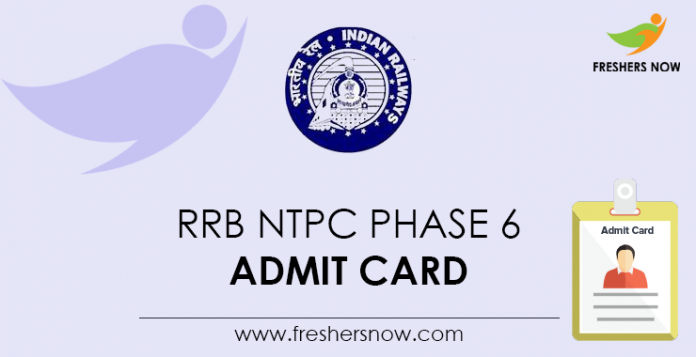 RRB-NTPC-Phase-6-Admit-Card
