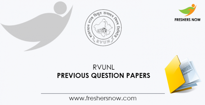 RVUNL Previous Question Papers
