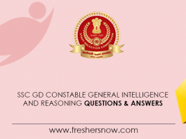 SSC GD Constable General Intelligence and Reasoning Questions & Answers