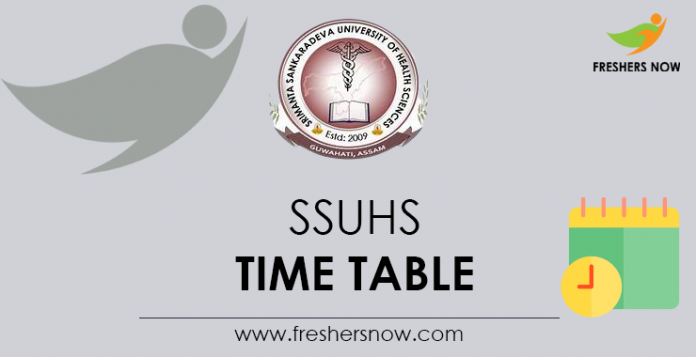 SSUHS Time Table