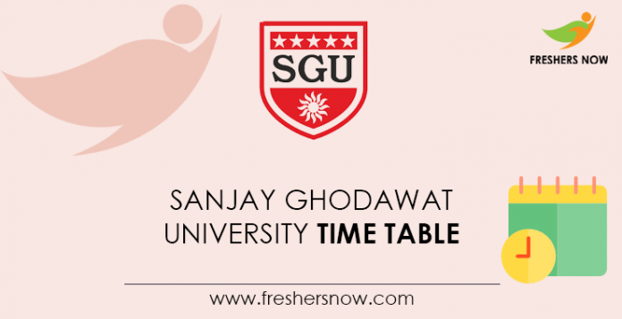 Sanjay-Ghodawat-University-Time-Table