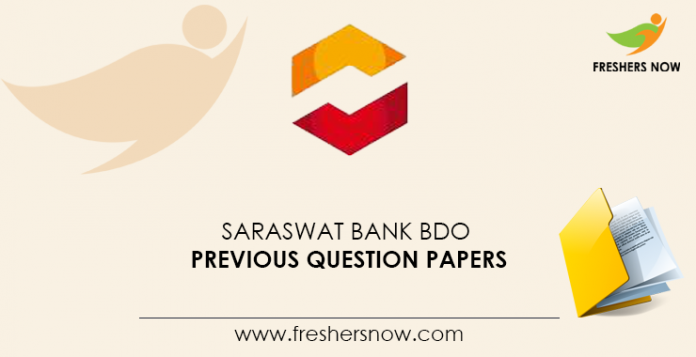 Saraswat-Bank-BDO-Previous-Question-Papers