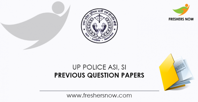 UP Police ASI, SI Previous Question Papers