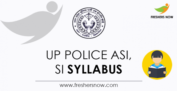 UP Police ASI, SI Syllabus