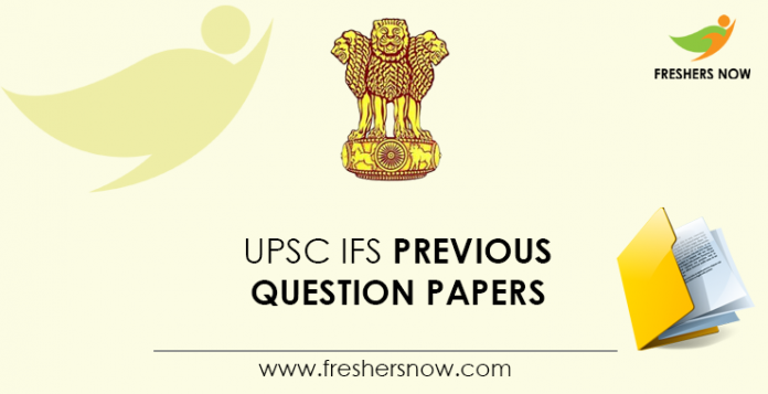 UPSC-IFS-Previous-Question-Papers