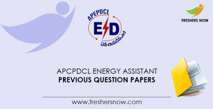 APCPDCL-Energy-Assistant-Previous-Question-Papers