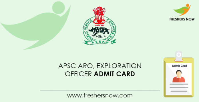 APSC ARO, Exploration Officer Admit Card