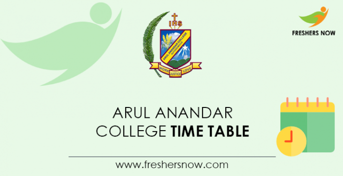 Arul Anandar College Time Table