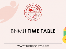 BNMU Time Table