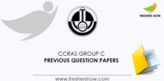CCRAS Group C Previous Question Papers