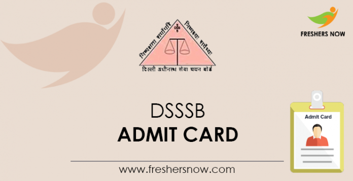 DSSSB-Admit-Card