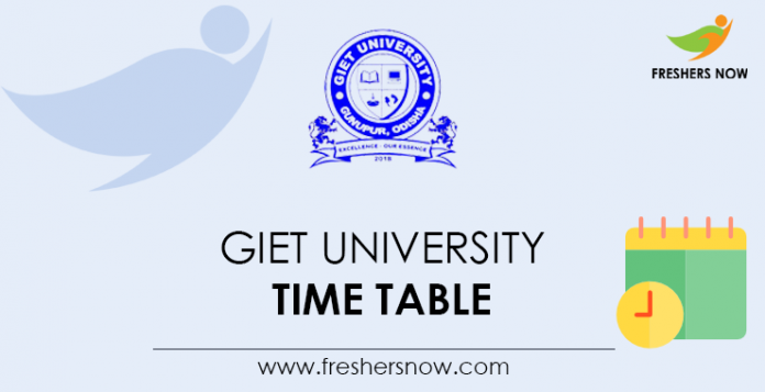 GIET University Time Table