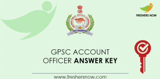 GPSC-Account-Officer-Answer-Key