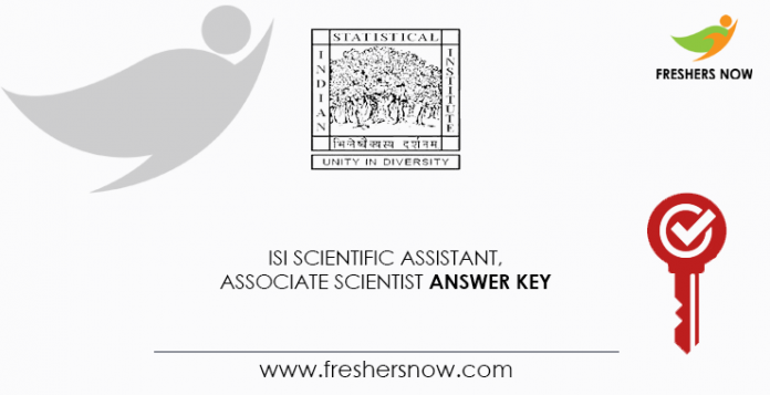 ISI-Scientific-Assistant, -Scientist-Associate-Key-Answer