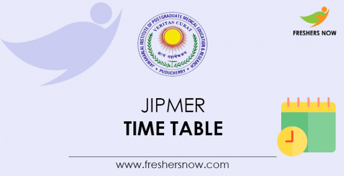 JIPMER Time Table
