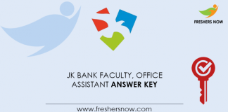 JK-Bank-Faculty,-Office-Assistant-Answer-Key