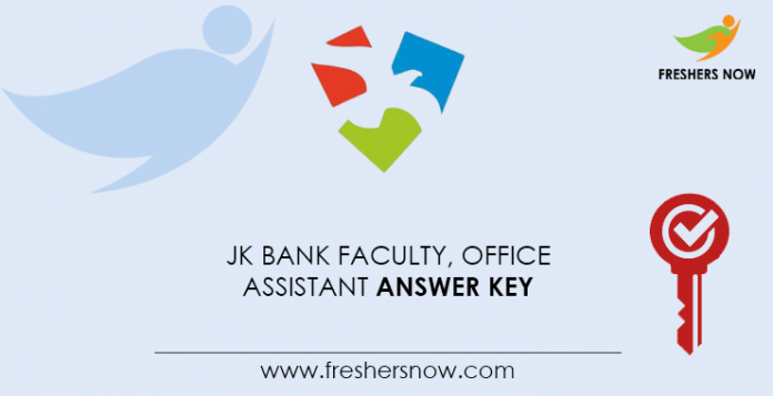 Jk-bank-faculty, -office-assistant-answer-key