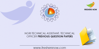 NGRI-Technical-Assistant,-Technical-Officer-Previous-Question-Papers