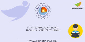 NGRI-Technical-Assistant,-Technical-Officer-Syllabus
