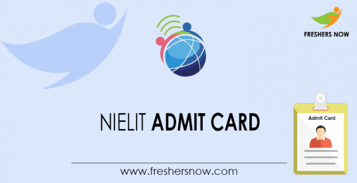 NIELIT-Admit-Card