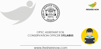 OPSC-Assistant-Soil-Conservation-Officer-Syllabus