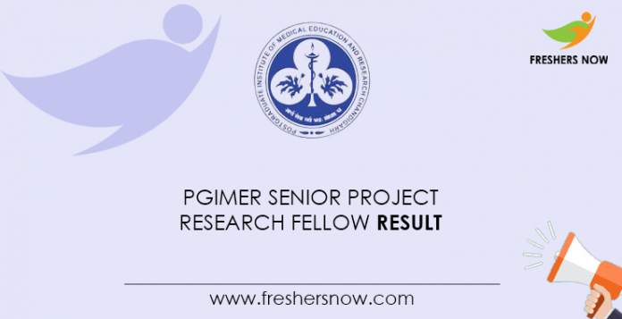 PGIMER-Senior-Project-Research-Fellow-Result