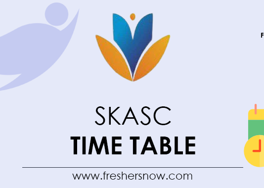 SKASC Time Table