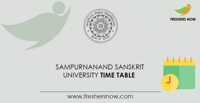 Sampurnanand Sanskrit University Time Table