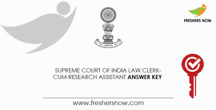 Supreme-Court-of-India-Law-Clerk-cum-Research-Assistant-Answer-Key