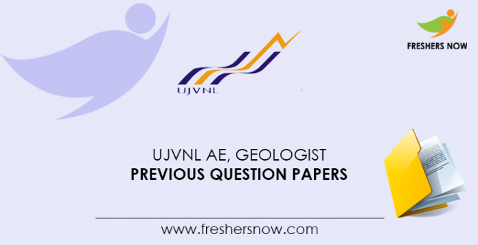 UJVNL AE, Geologist Previous Question Papers