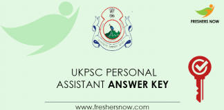 UKPSC-Personal-Assistant-Answer-Key