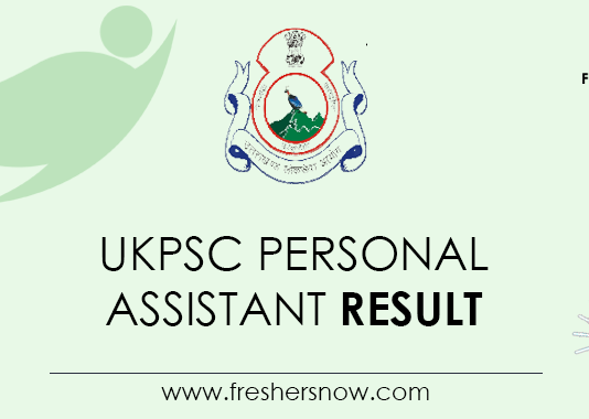 UKPSC-Personal-Assistant-Result