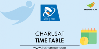 CHARUSAT Time Table