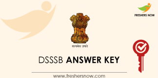 DSSSB Special Educator Primary, Assistant Foreman Answer Key