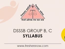 DSSSB Group B, C Syllabus
