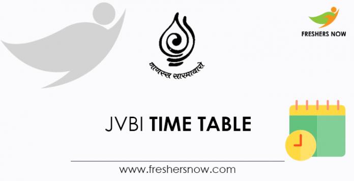 JVBI Time Table