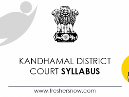 Kandhamal District Court Syllabus