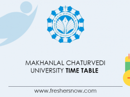 Makhanlal-Chaturvedi-University-Time-Table