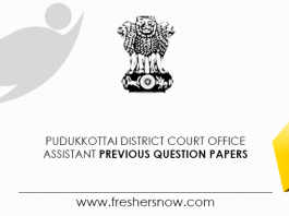 Pudukkottai District Court Office Assistant Previous Question Papers