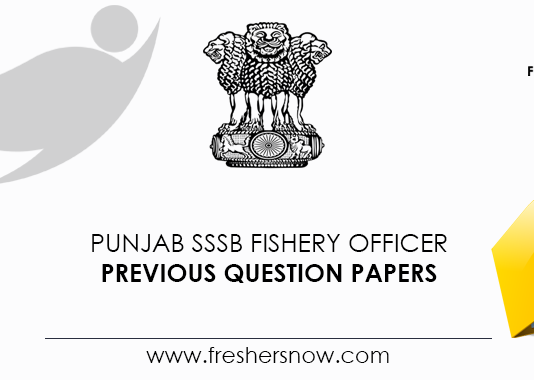 Punjab SSSB Fishery Officer Previous Question Papers