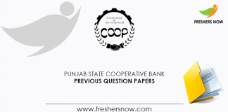 Punjab State Cooperative Bank Previous Question Papers