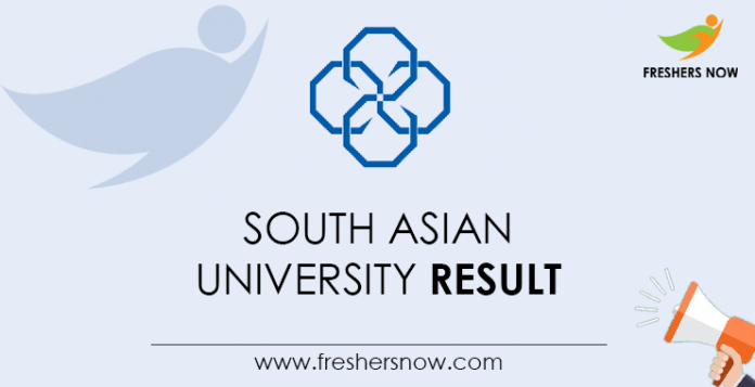 South Asian University Results