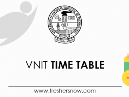 VNIT Time Table