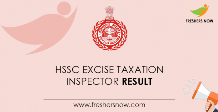 HSSC-Excise-Taxation-Inspector-Result