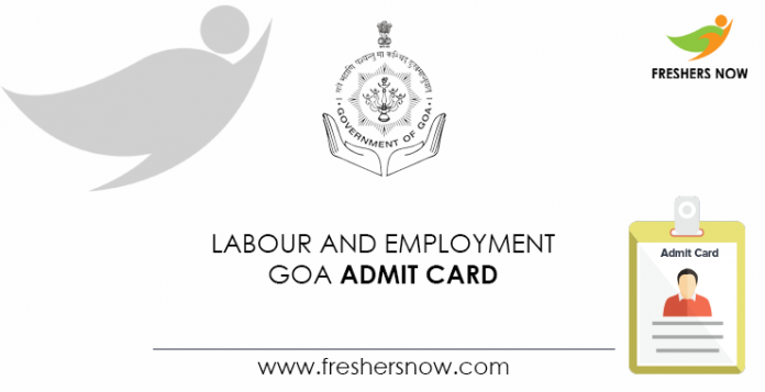 Labour-and-Employment-Goa-Admit-Card