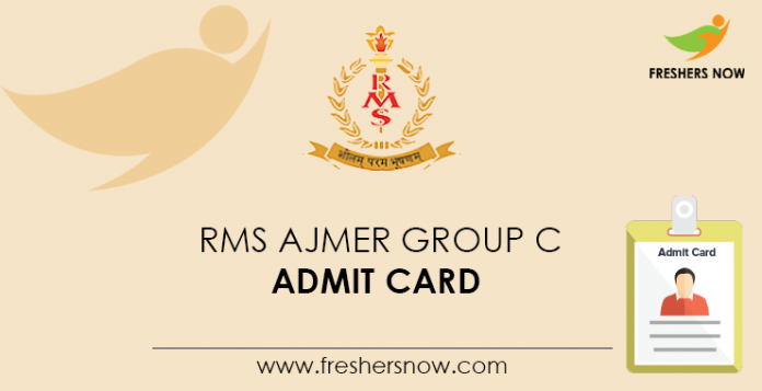 RMS-Ajmer-Group-C-Admit-Card