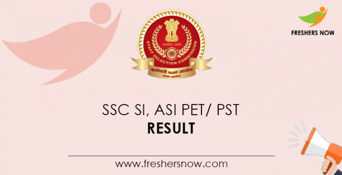 SSC-SI,-ASI-PET,-PST-Result